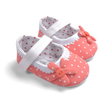 Cute Baby Girls Shoes Infant First Walkers Kid Dot Sunflower Toddler Shoes Soft Sole Non-Slip Baby Tootwear 1pcs free shipping