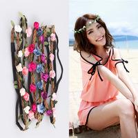 20Pcs/lot Women Girls New Flower Fairy Bohemian Braid Wedding Beach Tiara Crown Hair Headband Wholesale Price LFZ37