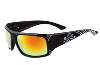 New Sport Outdoor Cycling Bicycle Bike Goggles Glasses Colorful Lens UV400 Sunglasses  Print  Black Frame Colorful Lens