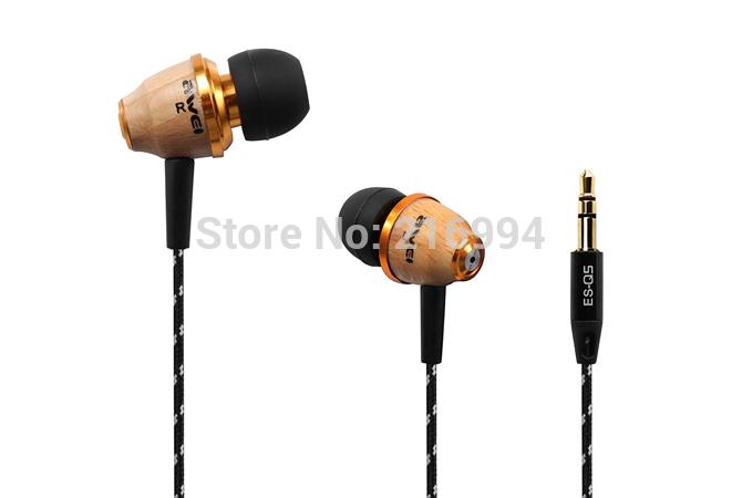 Freeshipping !!! Awei Q5 wooden earphone 3.5mm fashion nice gift mobile phone mp3 earphone headphones(China (Mainland))