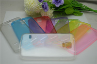 20pcs/lot New arrival super thin 0.5mm colorful transparent TPU case for Samsung Galaxy S5 i9600  ,free shipping