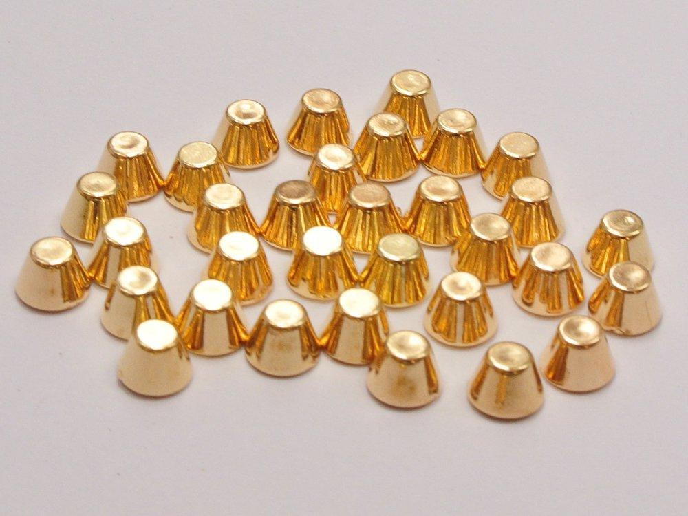 1000 Gold Tone Metallic Acrylic Rock Punk Flat Head Spike Rivet Studs 6X4mm cell phone case deco jewelry accessories DIY craft(China (Mainland))