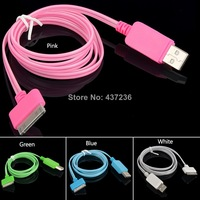 New 1.0m Visible flowing LED Light USB Charging Sync Cable for iPhone 4 4s E2108 P