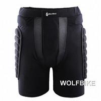 WOLFBIKE Black Short Protective Hip Butt Pad Ski Skate Snowboard skating skiing protection drop resistance roller padded Shorts