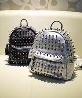 Fashion mini 2014 rivet backpack child backpack parent-child bag