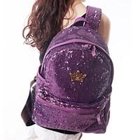 Girls GENERATION bag 2014 double-shoulder back embroidered paillette big student backpack school bag women's handbag
