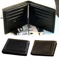 2014 New Men Mens Bifold Leather Wallet Pocket Purse Id Card Money Clip Holder Clutch Black Brown