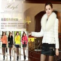 2014 Cheap women's winter jacket cotton-padded slim short design elegant fashion wadded jacket outerwear free shipping