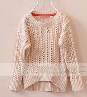 Autumn winter 2014 kids hollow knitted sweater