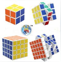 """White Shenshou set of 4pcs Competitve Speed Spring Magic Puzzle Cube Game Intelligence Fancy Toy Gift 2.25"""""""