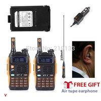 2x Baofeng GT-3 Mark II 136-174/400-520MHZ two way radio + 1 x extra Battery V/U Ham 2 way Radio