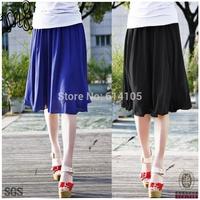 Summer 2014 New Plus Size Women's Clothing Fat Girls Saia Chiffon Desigual Midi Skirt blue back XXXL