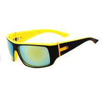 New Yellow+Black  Colorful Lens Unisex  Wayfarer Color UV400 Men Women Sunglasses Outdoor Sports Cycling Golfing Eyeglasses