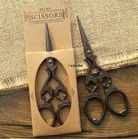 OSS-120C Retro Style Handmade Mini Sewing Scissors Antique Design Embroidery Heron Egret Rasor