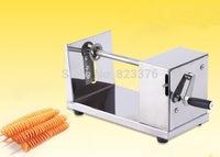 DHL Free shipping 10 pcs Manual Stainless steel Tornado Potato Machine Spiral Potato Chips Cutter Slicer