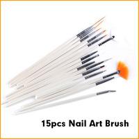 15pcs/set Professional Nail Art Brush Set Design Drawing Pen Nail Brushes
