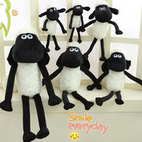 High quality 1pcs 25cm Cute Soft Black and White Sheep Animal Plush Cotton toy