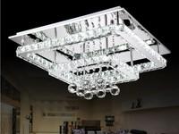 Square Shaped Modern LED Diamond Crystal Ceiling Light Fitting Crystal Lamp for Living Room Pendant Lighting L520MM H300MM