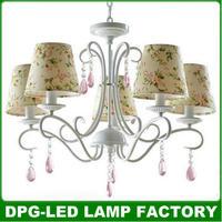 Modern led white  e14 crystal chandeliers cheap lampshade pendant lights lustres de casa sala lamps ceiling fan para quarto c02