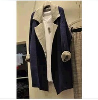 Autumn ladies new winter woolen coat was thin big yards Slim suit coat female Korean