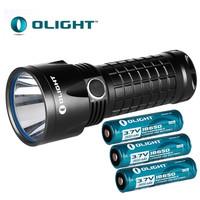 Free Shipping!Olight SR52 Intimidator 1200Lumens Rechargeable LED Flashlight+3x2600mAh Battery