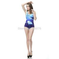 2014 hot sale new women Digital printing shark submarine swimwears 3D Printed swimwears sexy one piece