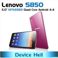 original Lenovo S850 phone white / pink dual sim Quad Core MTK6582 free shipping 2014 new in stock