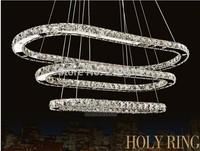 Free Shipping Single Diamond Ring LED Chandelier Crystal Lamp / Light / Lighting Fixture Modern LED Circle Light