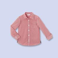 2014 new boy long sleeve Plaid Shirt children blouse