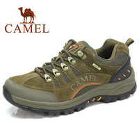 2014 Factory Direct Camel Hiking Genuine Leather Slip Waterproof Outdoor Hiking Shoes Male Genuine Walking Shoes