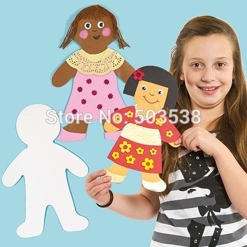 12pcs lot paper doll shape blanks kindergarten decoration