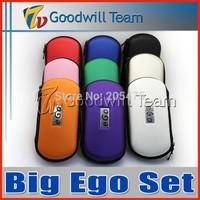 Best  Big Ego CE4 Set Double  kit 2 CE4 atomizer 2 batteries in  eGo zipper case  battery Electronic Cigarette set series 50pcs