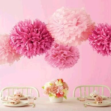 Spedizione gratuita 15pcs/lot 5 pollici ghirlanda tessuto pom pom fiore di carta palla decorazioni di nozze archi per matrimoni