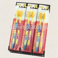 8pcs/lot nano bamboo toothbrush random color adult toothbrush free shipping