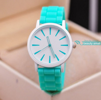 2014 New Arrival Casual Watch 12 colors Ladies Quartz Watch Classic Candy Colors Silicone Jelly Watches for Women and Men