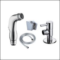 Free Shipping chrome hand held Bidet spray Shower set Shower bidet sprayer lanos toilet bidet spray gun torneira ducha