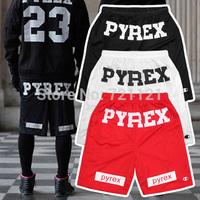 Best Version Pyrex Vision Men Shorts 2014 Kayne West Jay-Z R&B Chris Brown Hip Hop Style Fashion Mid Loose Drawstring Pant M-2XL