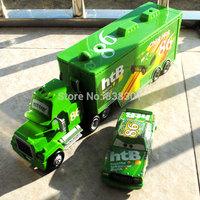 2pcs/pack 100% Original 1/55 Scale Pixar Cars 2 Toys Chicks Hicks And #86 HTB Hauler Diecast Metal Car Toy For Children