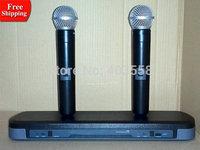 PG88 Hot sell cheap price professional dual channel dj equipment ktv karaoke VHF Wireless Microphone system