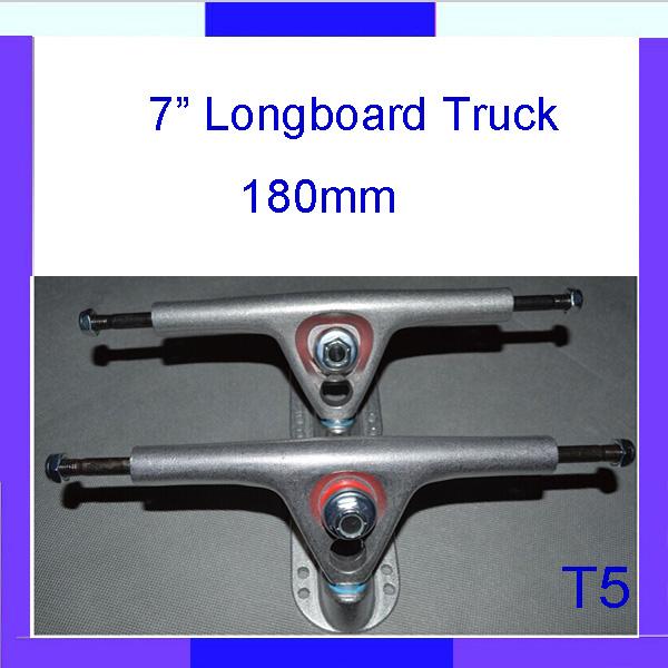 "Longdream T5 Brand New Silver 180mm Longboard Downhill Truck 7"" (2 pcs Set )(China (Mainland))"