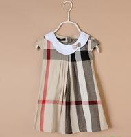 in stock Retail princess 2014 summer 1pcs baby girls dancing clothing princess children tutu kids dress colored dots 100% cotton