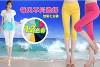 2014 summer women bottoming pants Slim pencil pants skinny leg pant size large size S-3XL Color: 12 kinds of candy colors