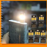 5pcs/pack! Soshine Portable Mini USB Power 3 LEDs Night Light Lamp Warm Light Universal for Power Bank Mobile Charger Computer
