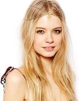 New 2014 spring bohemian vintage punk gold head chain fashion costume headband wedding accessories for hair