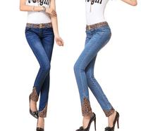 2 colors fashion design woman skinny high waist jeans for ladies,pencil brand jeans leggings designer famous brand,women jeans