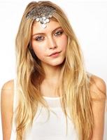 New 2014 Boho chic wedding hair accessories brand vintage retro silver bubble elastic headband scrunchy hair jewelry