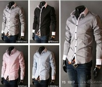 2014 New Designer Long Sleeve Men Shirts/Brand Patchwork Shirts For Men/Plus Size Tops For Men Clothing
