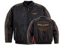 2014 Spring New men s Jacket for Harley motorcycle 110th Anniversary Burning Skull Zipper waterproof motorcross jacket