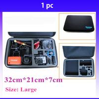50PCS GoPro Case TELESIN 4.0 Bag Large For Go Pro  Hero 3 3+ HD Hero 2 black edition Camera Accessories  bags Black