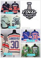 stitched 2014 Stanley Cup Finals Patch New York Rangers #30 Henrik Lundqvist  ice hockey jersey/shirt